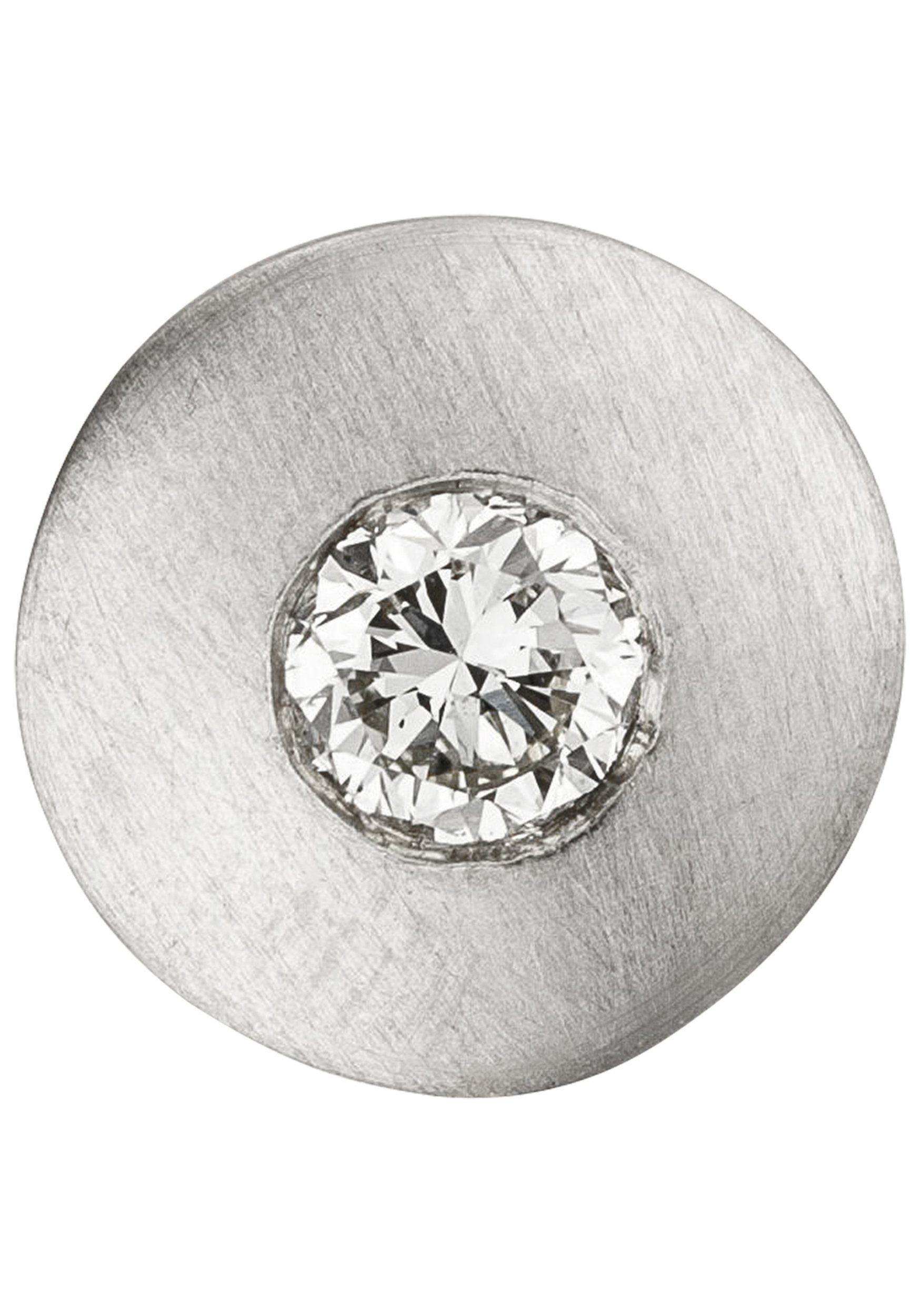 JOBO Kettenanhänger rund 950 Platin mit 1 Diamant