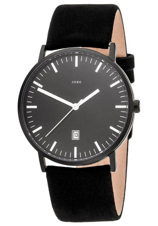 JOBO Titanuhr mit Lederband | Uhren > Titanuhren | Schwarz | Samt | JOBO