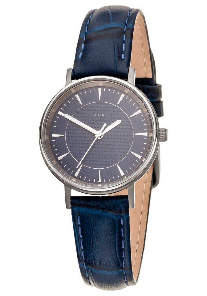 JOBO Titanuhr mit Lederband | Uhren > Titanuhren | Blau | JOBO