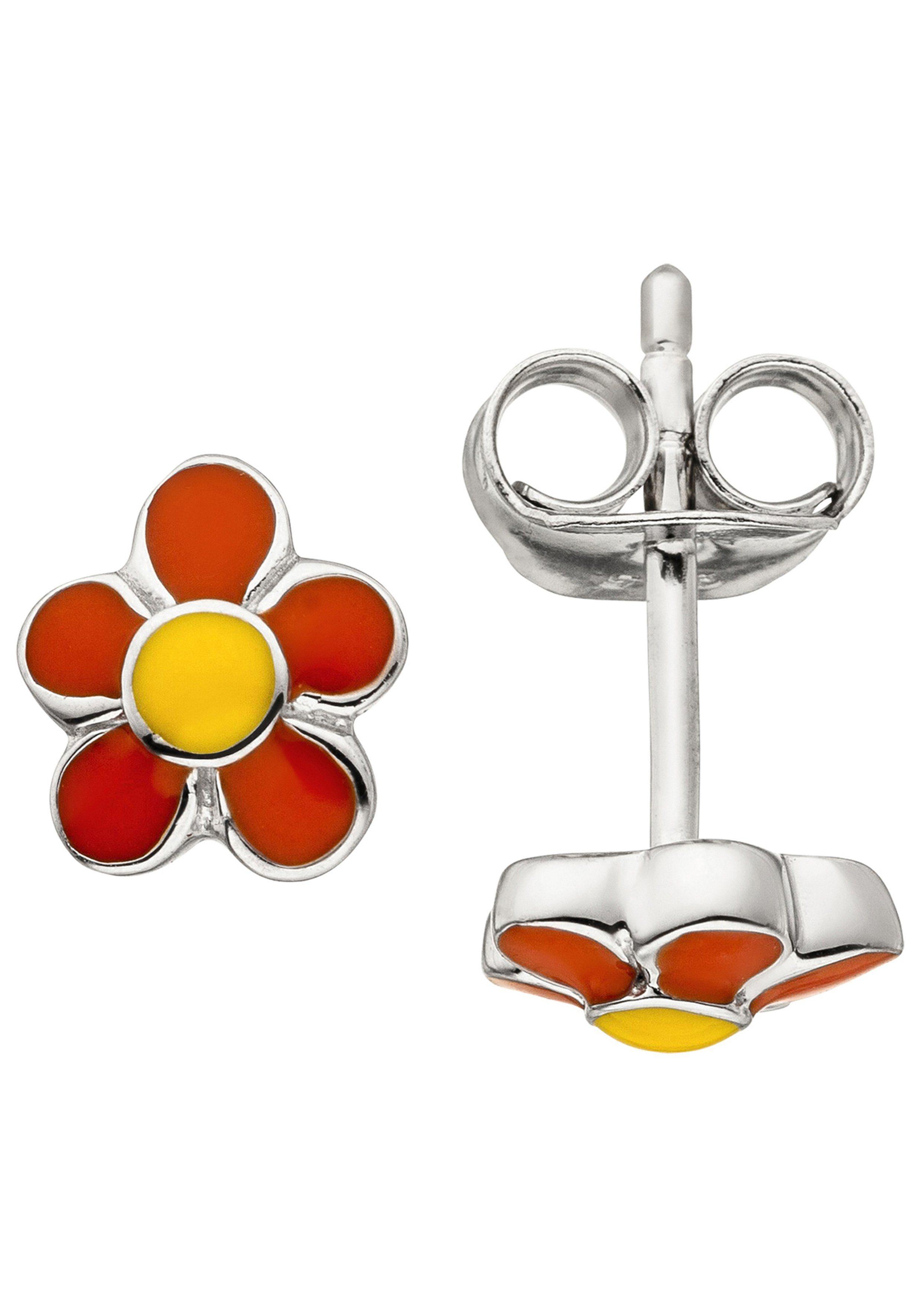 JOBO Paar Ohrhänger »Blume« 925 Silber