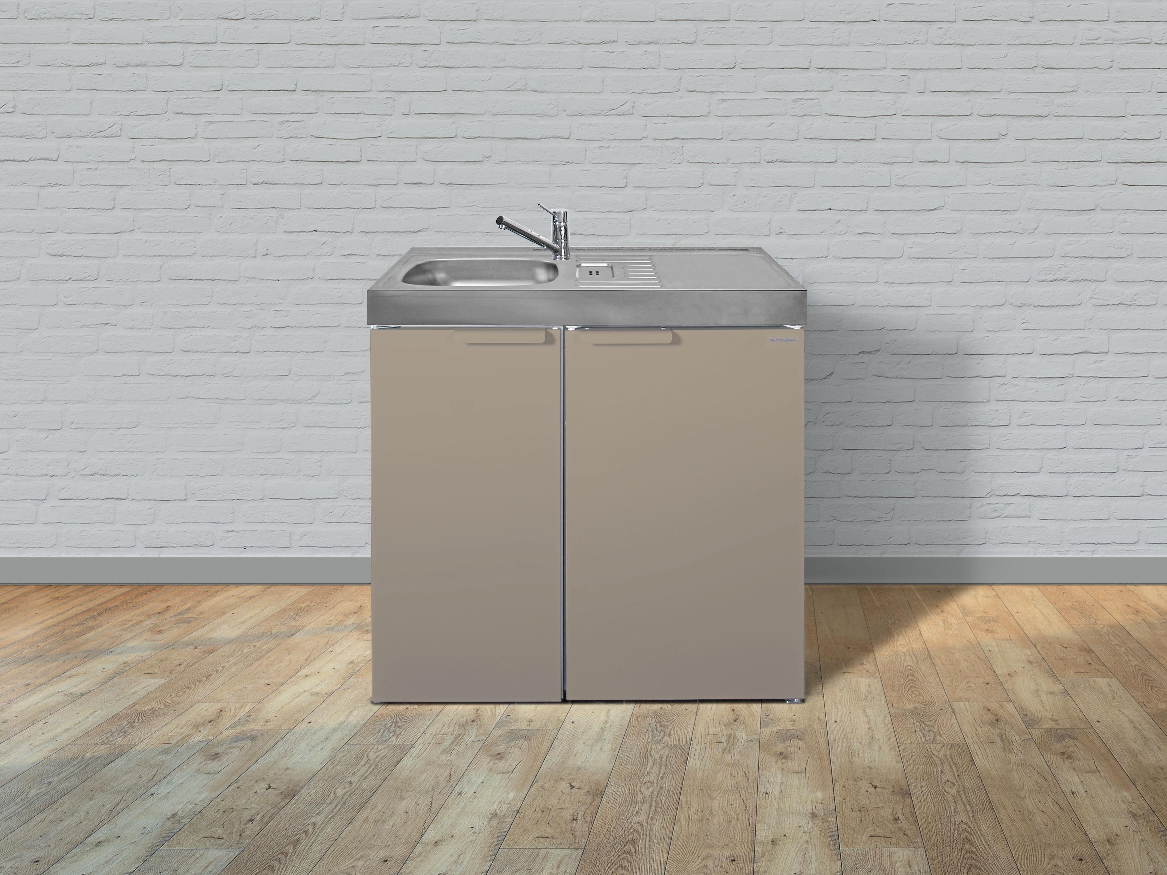 Miniküche Kühlschrank Links : Stengel metall miniküche kitchenline mk mit kühlschrank ohne