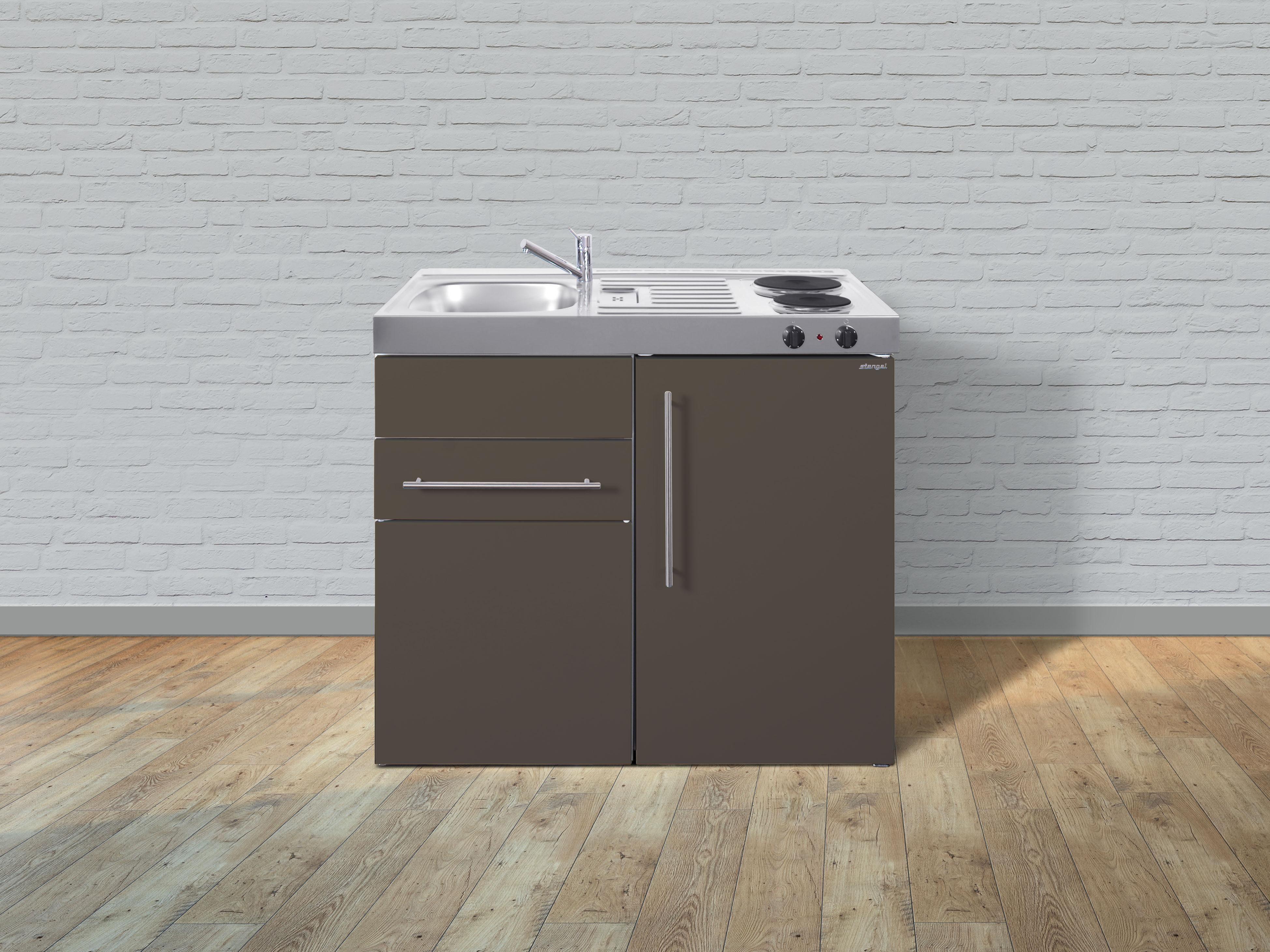 Miniküche Ohne Kühlschrank Gebraucht : Stengel metall miniküche premiumline mp s kühlschrank er