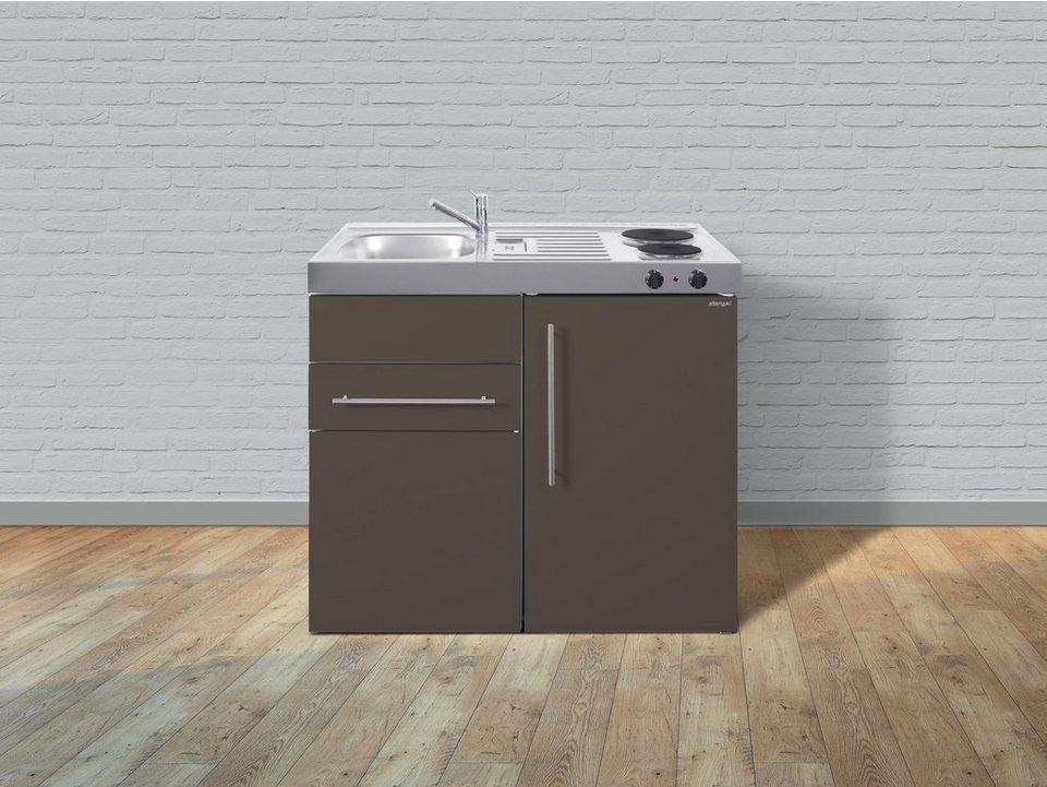 Miniküche Mit Kühlschrank Ohne Kochfeld : Stengel metall miniküche premiumline mp 100 s kühlschrank 2er