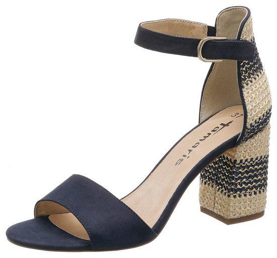 Tamaris »Heiti« Sandalette mit Bast-Bezug