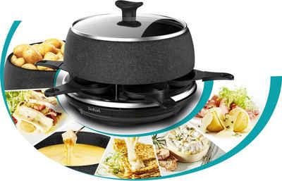 Tefal Raclette RE12C8 Fondue Cheese 'n Co, 6 Raclettepfännchen, 850 W, Elektrischer Raclette-Grill + Fondue-Gerät; Für 6 Personen; Spülmaschinengeeignet