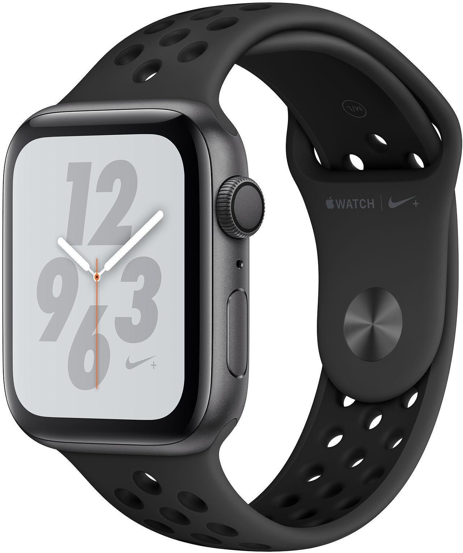 Nike+ Series 4 GPS, Aluminiumgehäuse mit Nike Sportarmband 44mm Watch (watchOS 5)