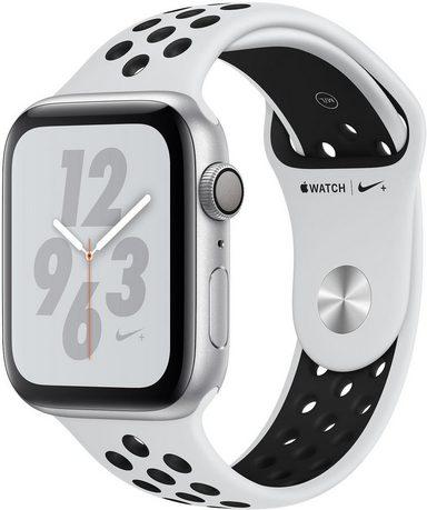 Apple Nike+ Series 4 GPS, Aluminiumgehäuse mit Nike Sportarmband 44mm Watch (Watch OS 5)