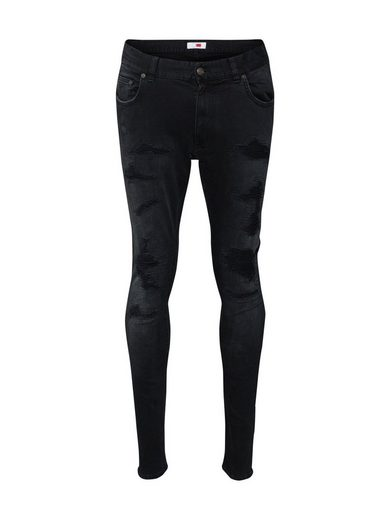 TOMMY HILFIGER Skinny-fit-Jeans »LEWIS HAMILTON BLACK REPAIR JEAN«