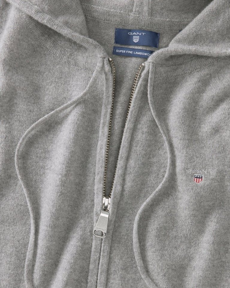 Gant Strickjacke mit Reißverschluss
