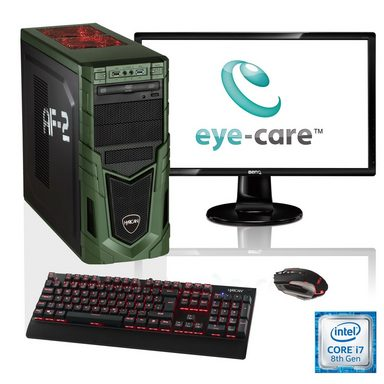 "HYRICAN i7-8700K 16GB SSD + HDD GeForce® GTX 1070Ti + 27"" Monitor »Military SET1649«"