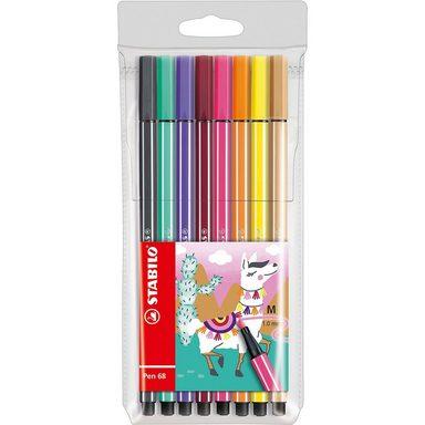 STABILO Filzstifte Pen 68 Etui Living Colors Ltd. Ed. Lama, 8 Farben
