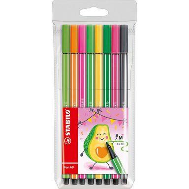 STABILO Filzstifte Pen 68 Etui Living Colors Ltd. Ed. Avocado, 8 Far