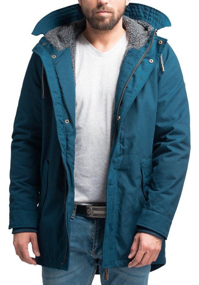 Herren Ragwear Winterjacke YM-Mr Smith stylischer Herren Winterparka mit großer Kapuze blau   04251490173118