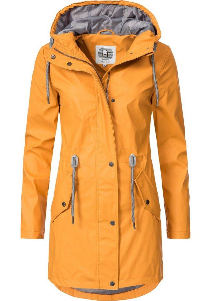 PEAK TIME Regenjacke »L60049« stylisch taillierter Regenmantel für Damen cf3d4428fb