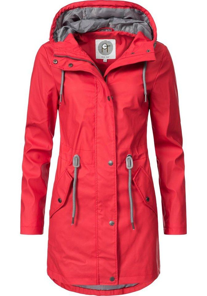 PEAK TIME Regenjacke »L60049« stylisch taillierter Regenmantel für ... 5744319c46