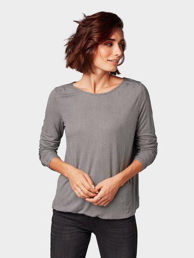 TOM TAILOR Langarmshirt »Gemustertes Shirt«