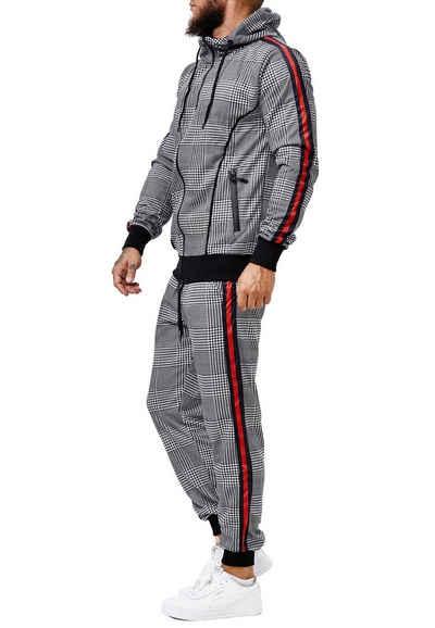 Code47 Jogginganzug »Code47 Herren Jogginganzug JA-1658C« (Sportanzug Trainingsanzug Fitnessanzug, 2-tlg., Sportswear TrackSuit Sweat)