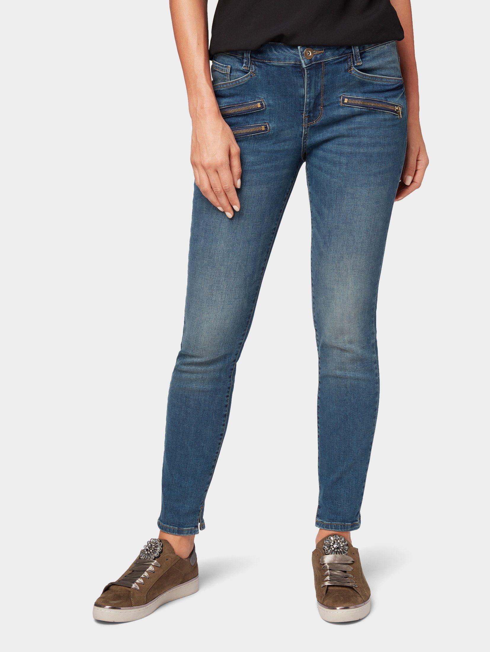 Mac 2b, Mia turn up, 34 Damen Jeans Hose, Stretchdenim
