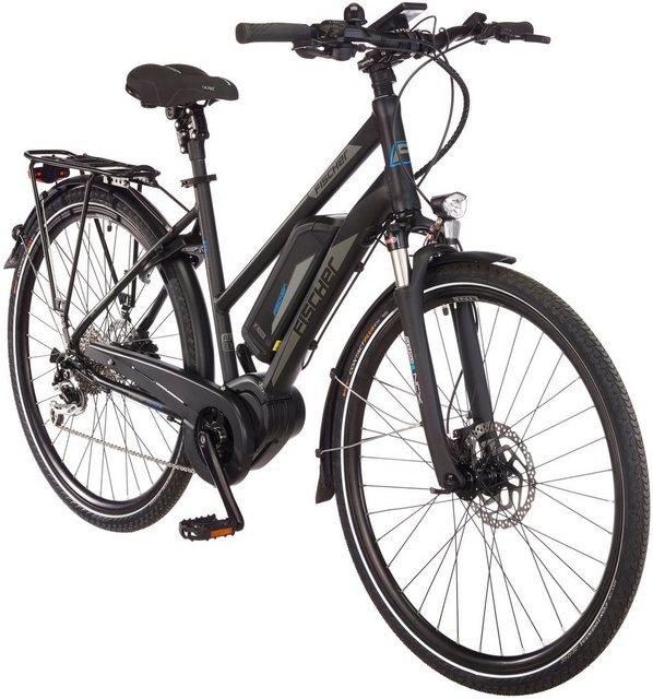 FISCHER FAHRRAEDER E-Bike Trekking Damen »ETD1861-Ready RH44«, 28 Zoll, 9 Gänge, Mittelmotor, 557 Wh*