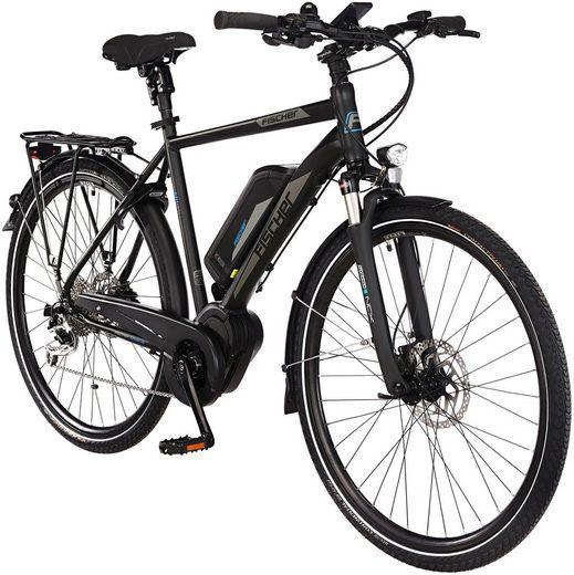 FISCHER FAHRRAEDER E-Bike Trekking Herren »ETH1861-Ready RH55«, 28 Zoll, 9 Gänge, Mittelmotor, 557 Wh