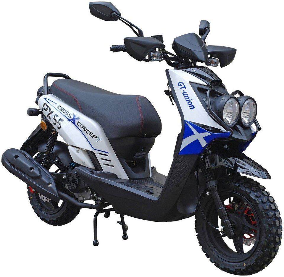 gt union motorroller px 55 cross concept 50 ccm 45 km. Black Bedroom Furniture Sets. Home Design Ideas