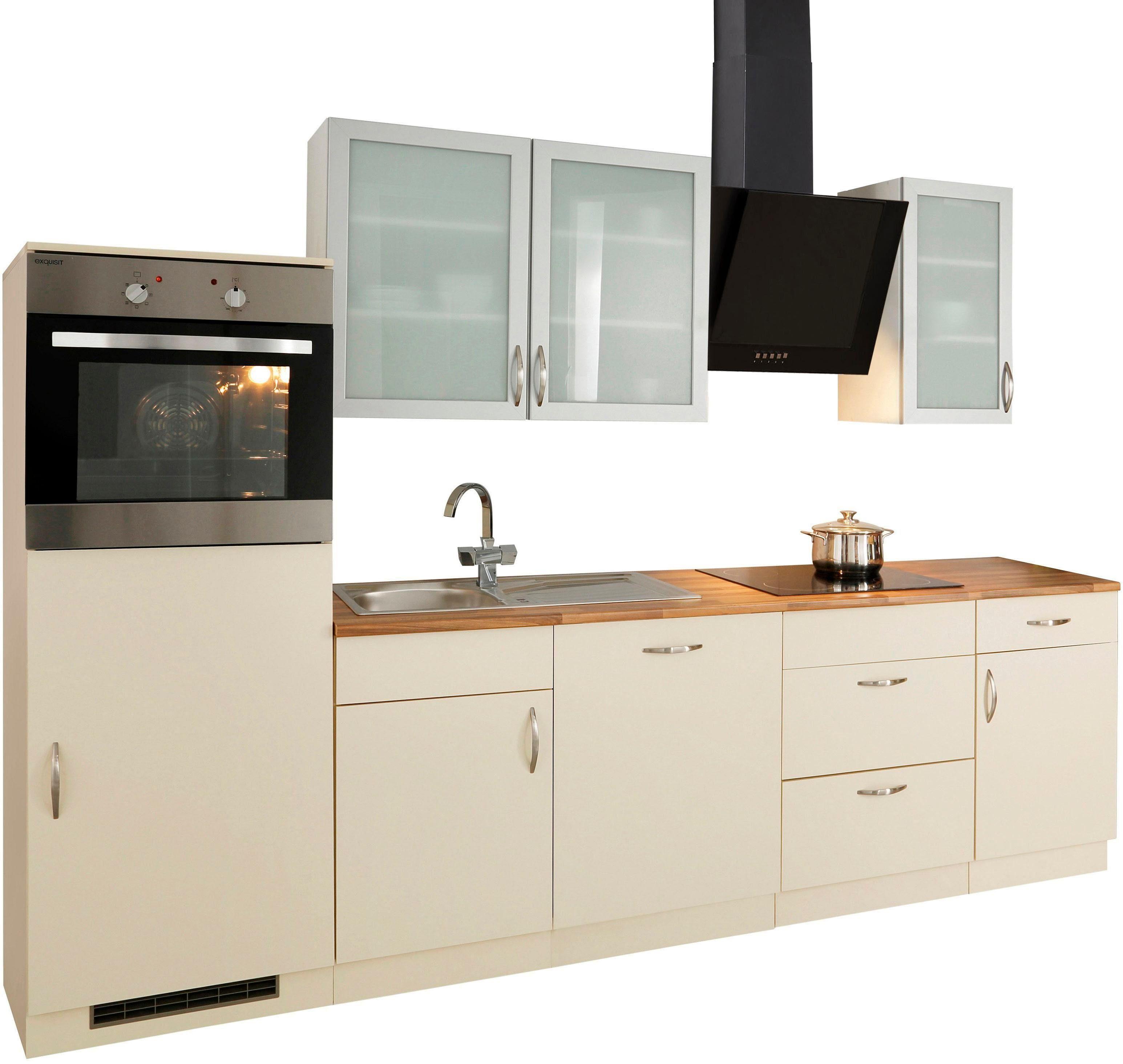 Küchenzeile mit Elektrogeräten »Peru«, Breite 280 cm