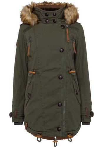 - Damen naketano Winterjacke mit unzähligen Details und markentypischer Optik grün   04060606137551