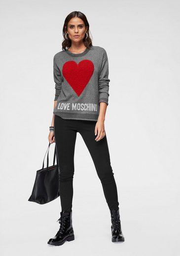 Mit Love Strickpullover Moschino Love Applikation Moschino 1SqBwY8