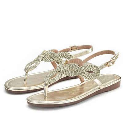 LASCANA Zehentrenner Sandale im Metallic-Look c005c950c6