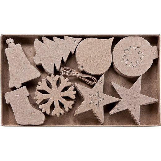 prohobb Paper Art 2D-Figuren Weihnachten, 80 Stück, 8 verschiedene D