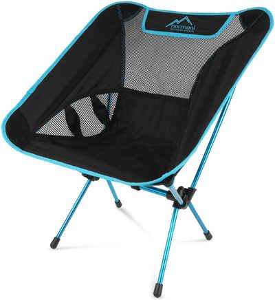 normani Campingstuhl »Campingstuhl Moak«, Ultraleichter Mini Campingstuhl Faltstuhl mit 796 g Eigengewicht - Strandstuhl Anglerstuhl Outdoorstuhl