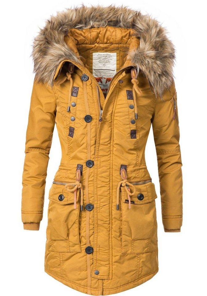 Khujo damen mantel wintermantel winterparka ym dorota