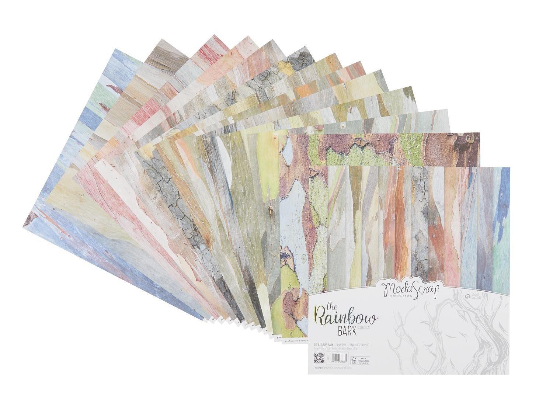 "Renkalik Scrapbook-Papier ""Rainbow Wood"" 12 Blatt"