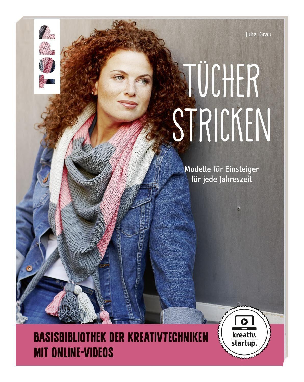 """Topp Buch """"Tücher stricken"""" 48 Seiten"""