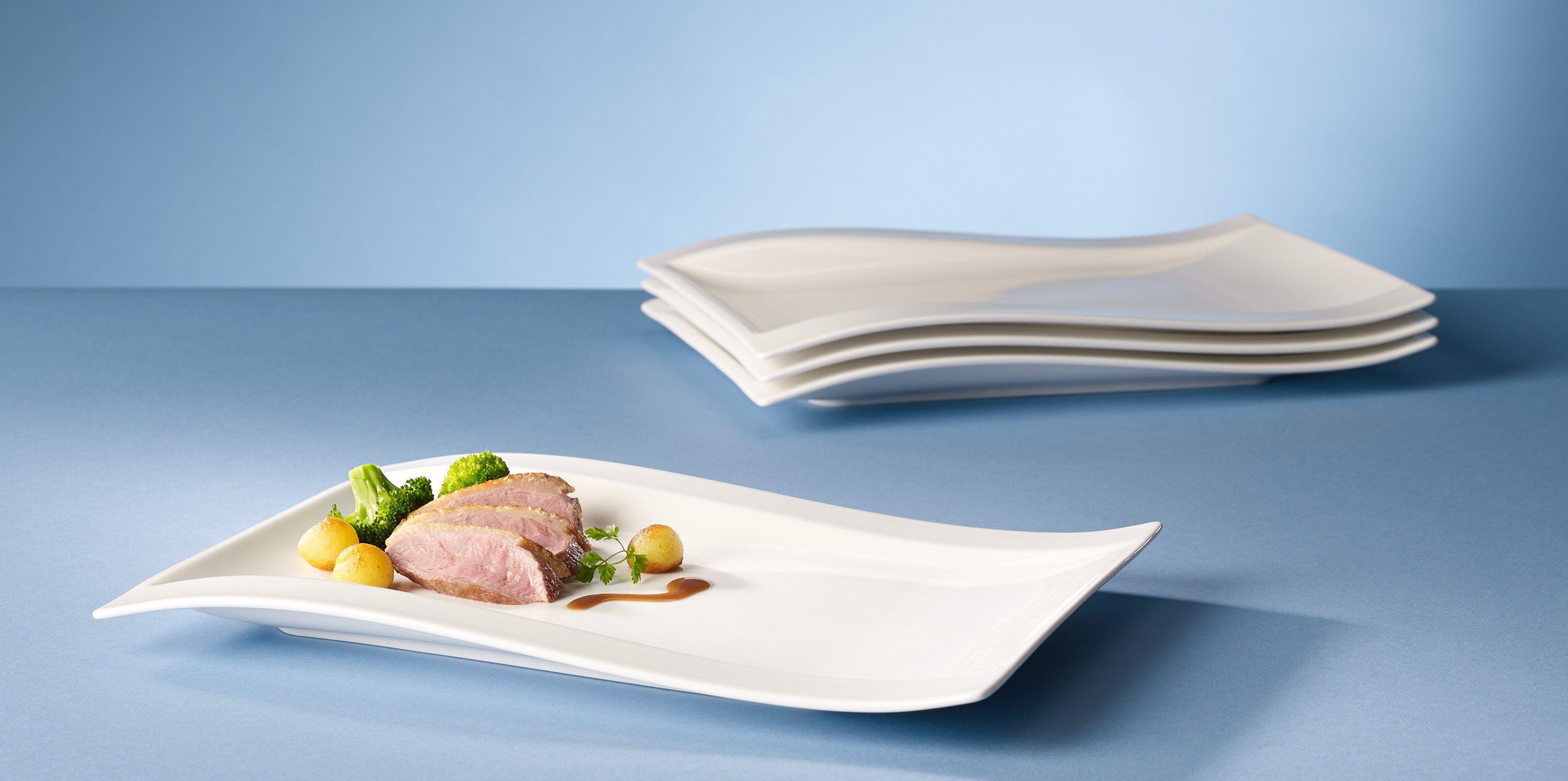 Villeroy & Boch Gourmet-Teller 33x24 4-teilig »NewWave«