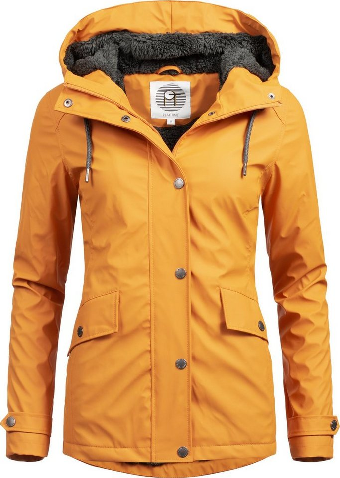 PEAK TIME Regenjacke »L60043« stylischer gefütterter Damen Winter ... e95c2aaf58