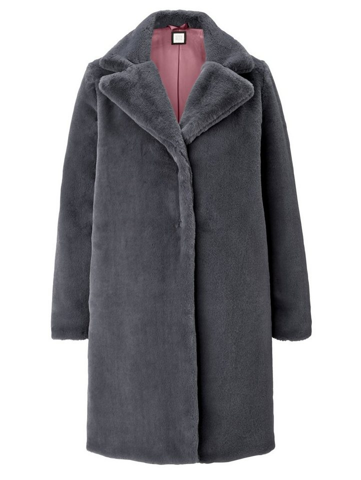 reken maar fake fur mantel breiter reverskragen online. Black Bedroom Furniture Sets. Home Design Ideas