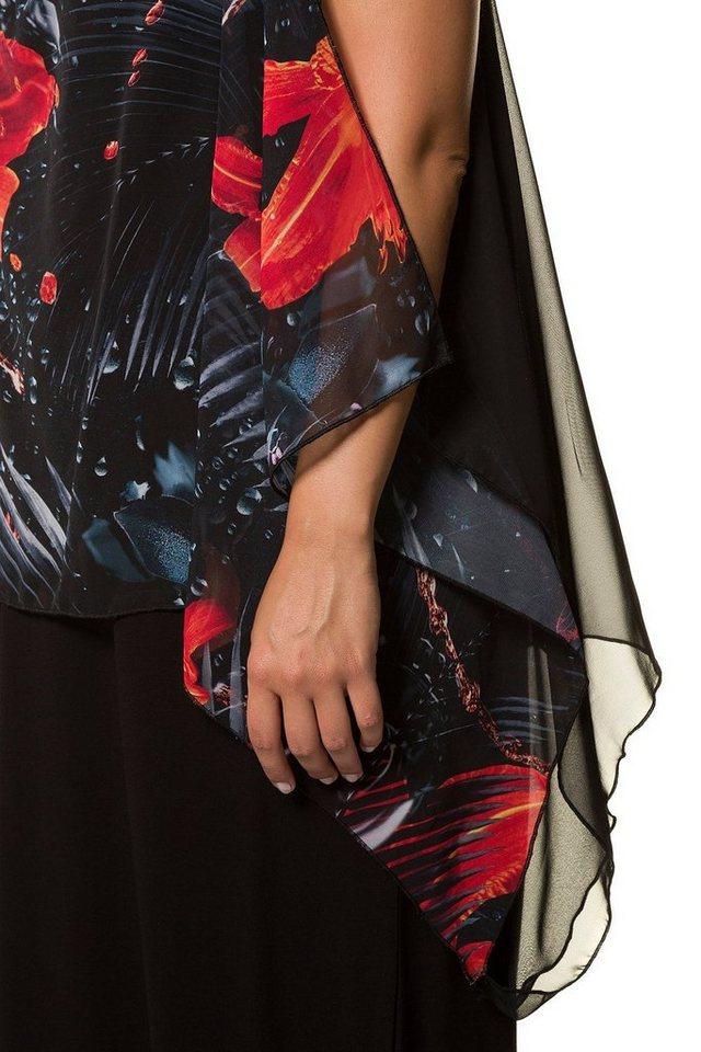 ulla popken strandkleid bis 64 strandkleid maxi kleid mit berwurf chiffon mit motiv. Black Bedroom Furniture Sets. Home Design Ideas