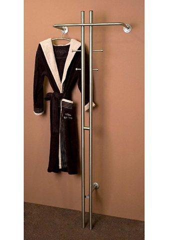 Garderobe in Edelstahlfarbig