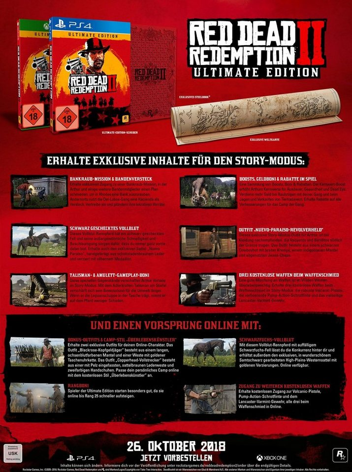 red dead redemption 2 ultimate edition xbox one otto. Black Bedroom Furniture Sets. Home Design Ideas