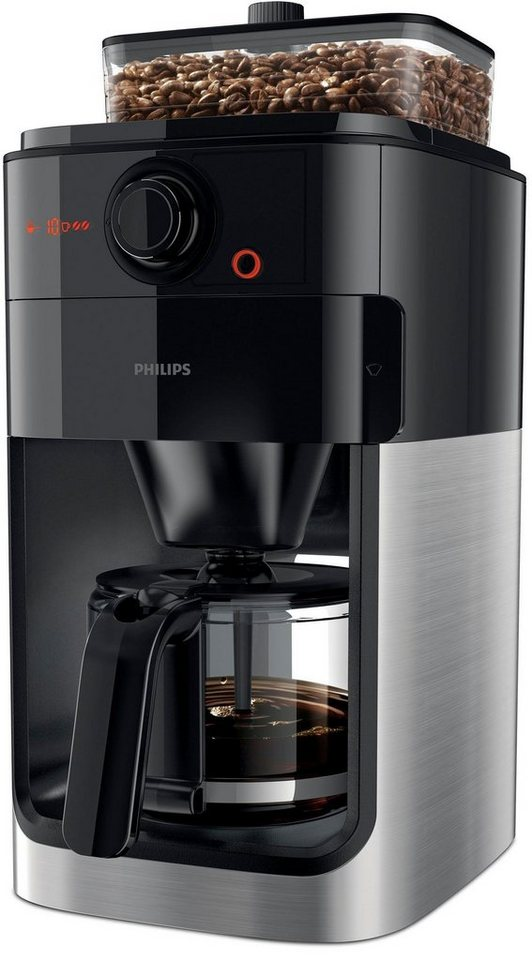 philips kaffeemaschine mit mahlwerk grind brew hd7767 00. Black Bedroom Furniture Sets. Home Design Ideas