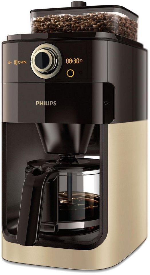 philips kaffeemaschine mit mahlwerk grind brew hd7768 90. Black Bedroom Furniture Sets. Home Design Ideas