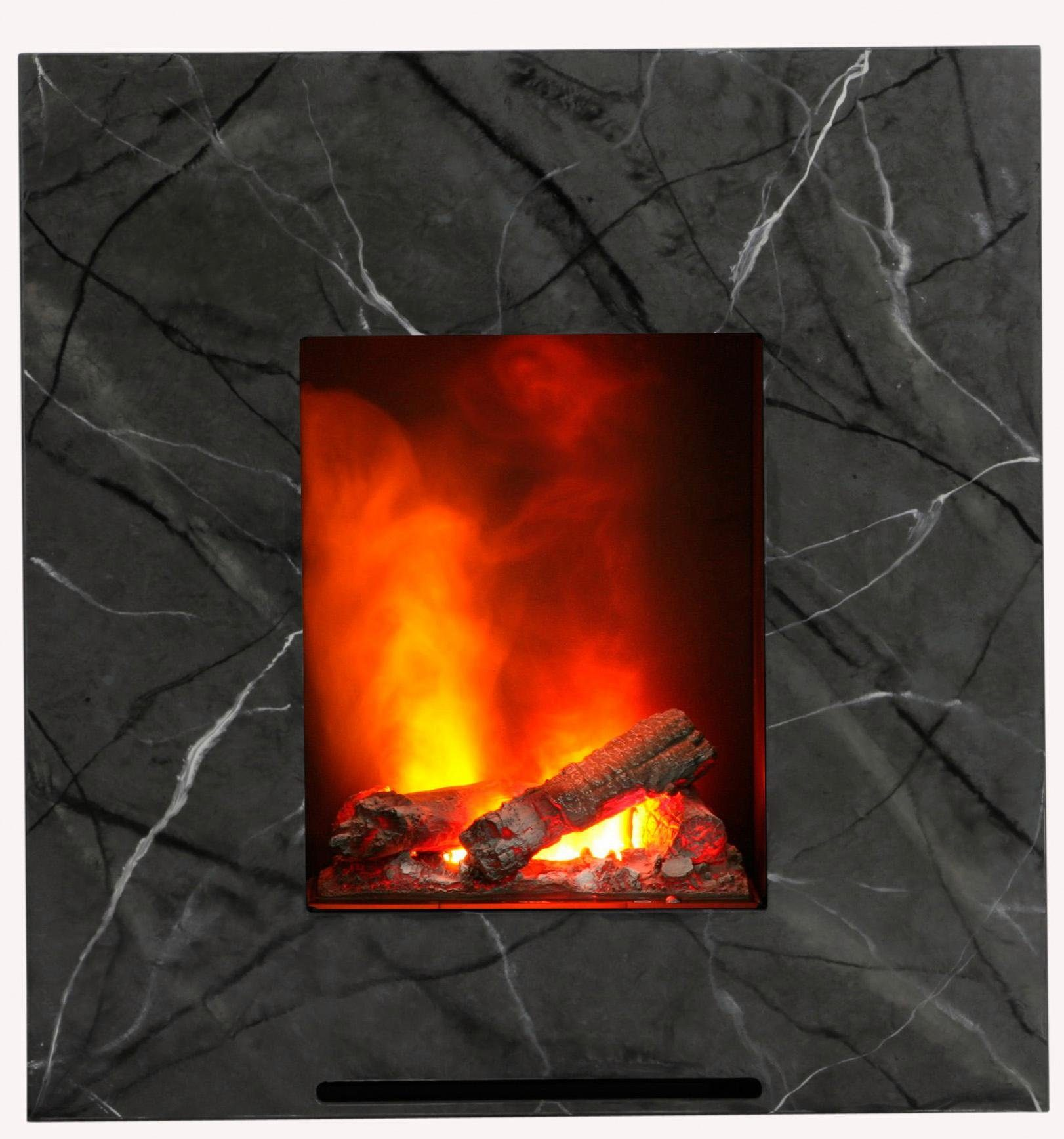 albero® Elektrokamin, marmoriert, mit dreidimensionalem Flammeffekt, »Eaton«