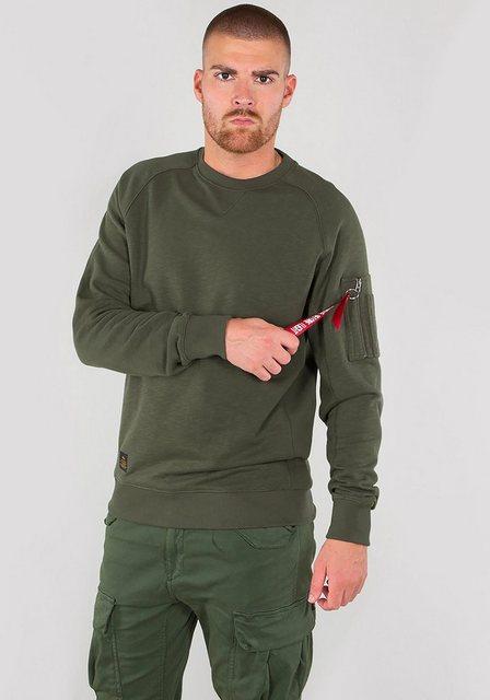 Herren Alpha Industries Sweatshirt Solid Crew Neck schwarz   04059146155897
