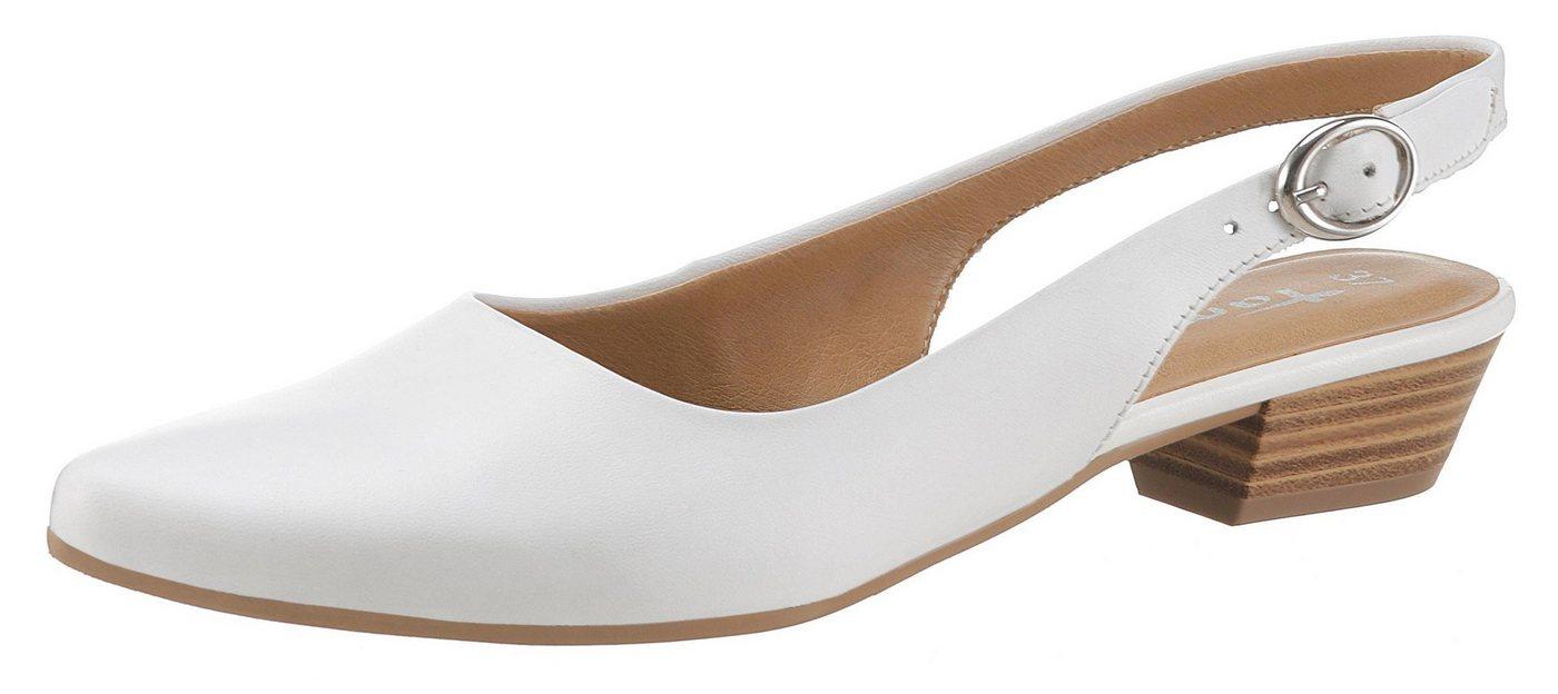 Tamaris »Trina« Slingpumps in schlichtem Design   Schuhe > Pumps > Slingpumps   Weiß   Tamaris