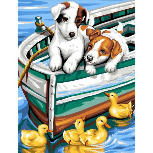 MAMMUT Spiel und Geschenk Junior Painting by Numbers - Hündchen und Enten