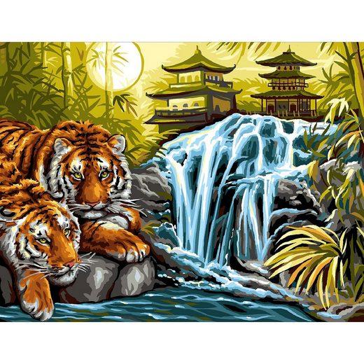 MAMMUT Spiel und Geschenk Senior Painting by Numbers - Tiger am Fluss