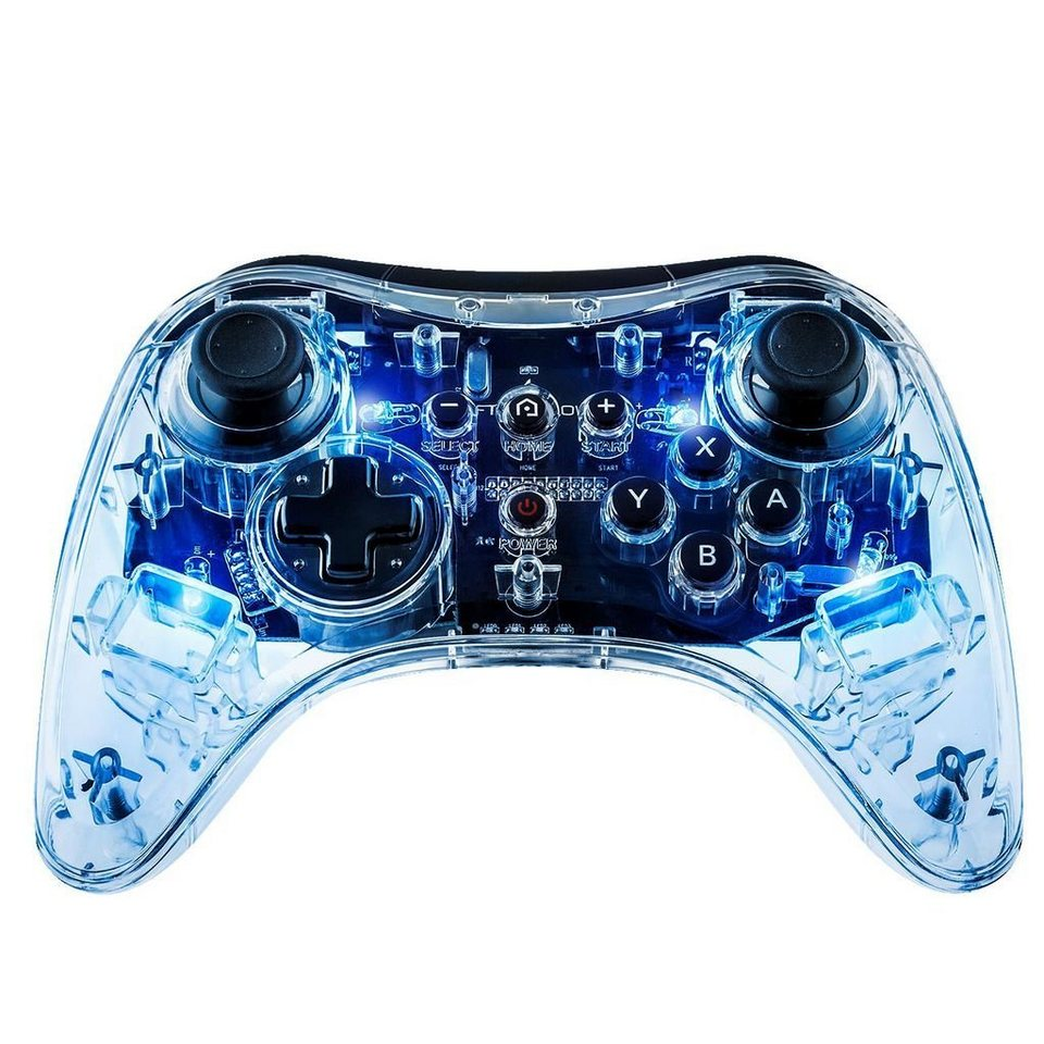 pdp wii u zubeh r afterglow wireless controller blau. Black Bedroom Furniture Sets. Home Design Ideas