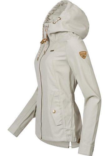 - Damen Ragwear Outdoorjacke Monade Übergang stylische Übergangsjacke in leicht melierter Optik grau   04251436272615