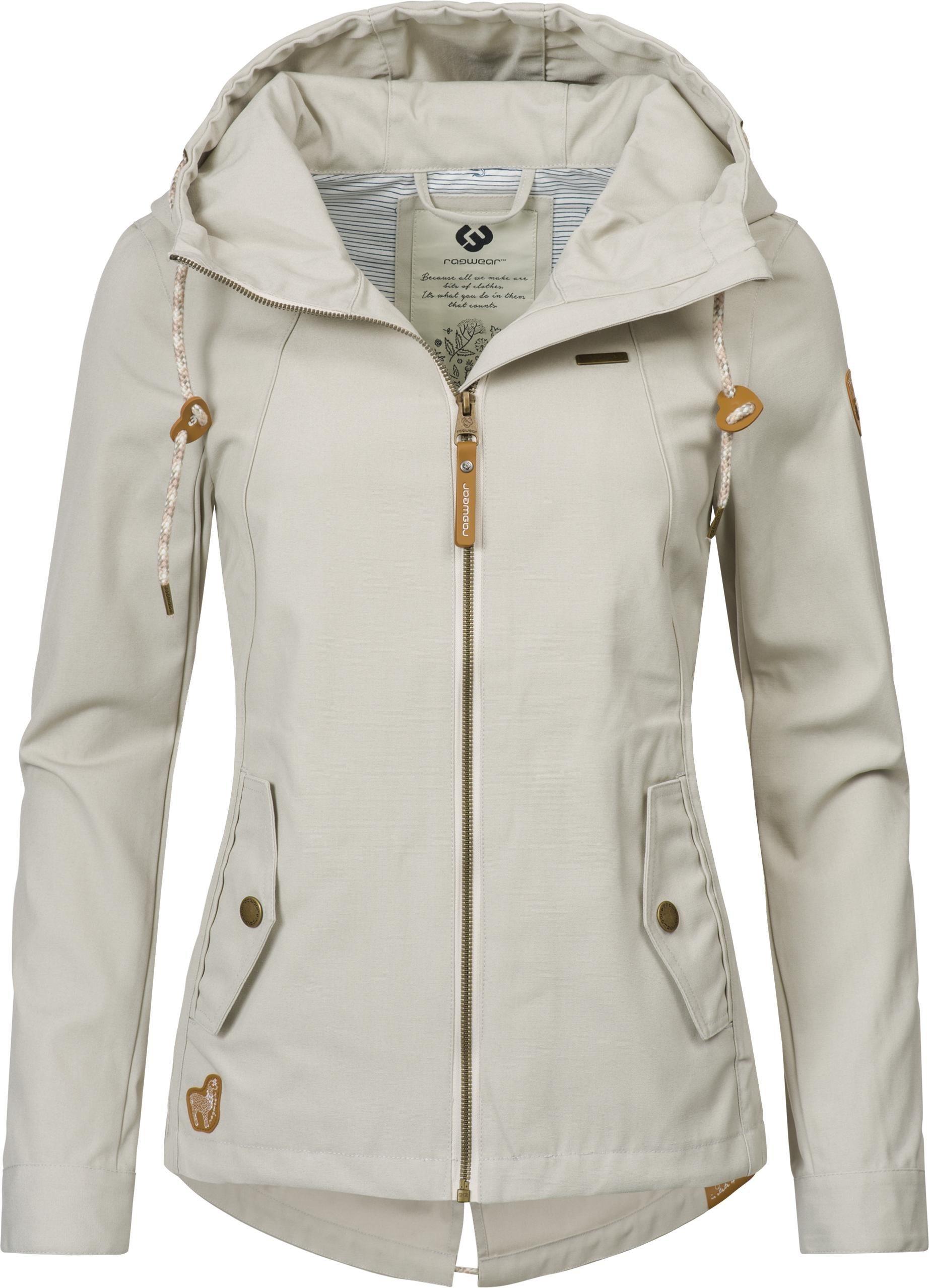 Damen Ragwear Outdoorjacke Monade Übergang stylische Übergangsjacke in leicht melierter Optik grau   04251436272615